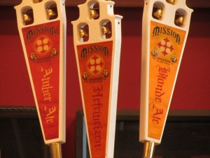 Mission Brewery Ale Taps